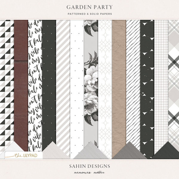 Garden Party Scrapbook papers by Sahin Designs