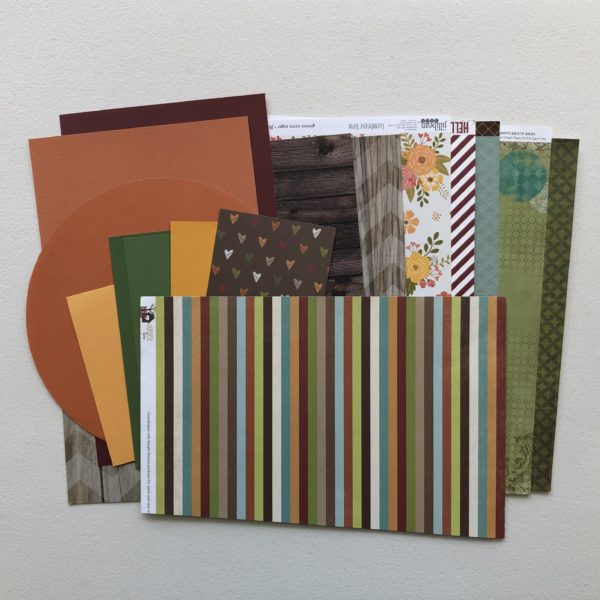 "Scrapbooking supplies, cardstock, patterned paper; October Counterfeit Kit Challenge kit ""Memories of Home"""