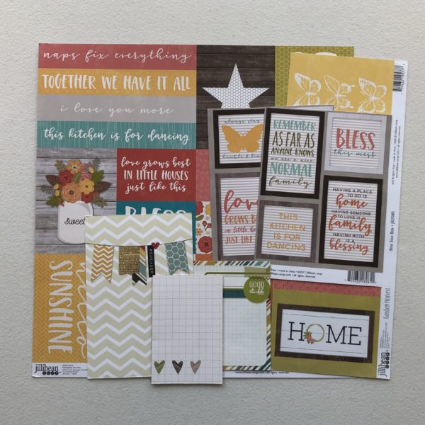"Scrapbooking cut-apart sheets and journaling cards; October Counterfeit Kit Challenge kit ""Memories of Home"""
