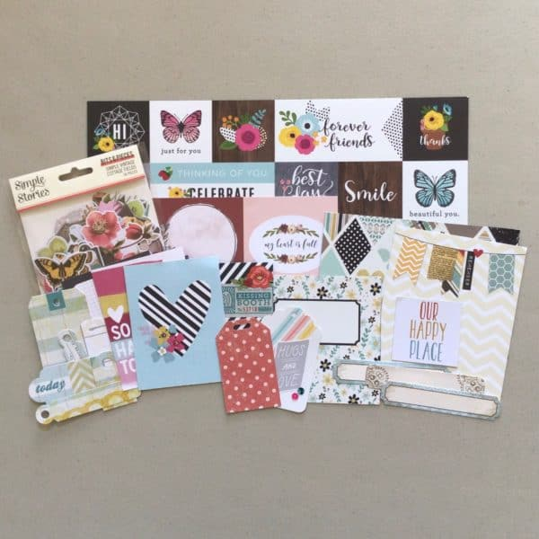 Scrapbook supplies; cut apart sheets, die cuts, journal cards, tags, labels - Counterfeit Kit October, 2021