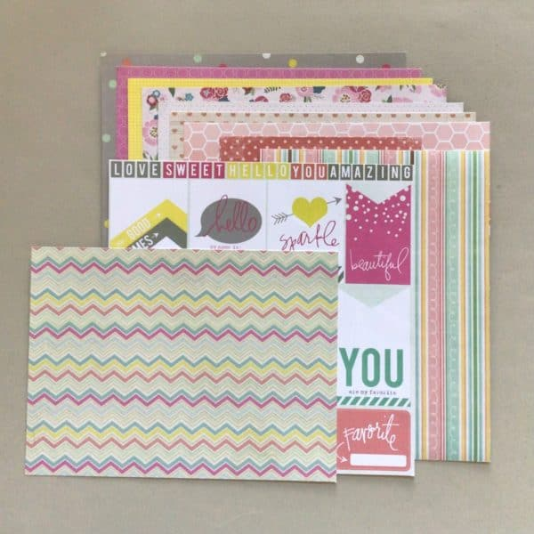 Patterned scrapbook paper - Counterfeit Kit October, 2021
