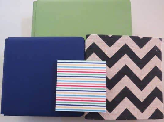 Several scrapbook albums in various sizes